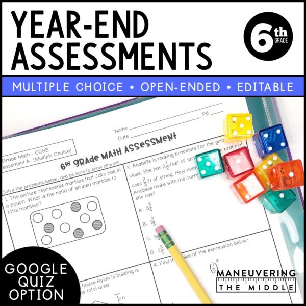 6th grade year end assessment ccss