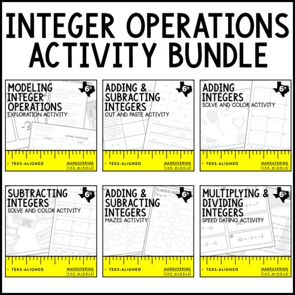 Integer Operations Activities