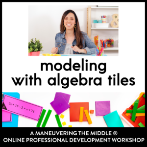 Modeling with Algebra Tiles PD