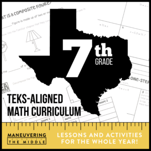 7th Grade TEKS Math Curriculum