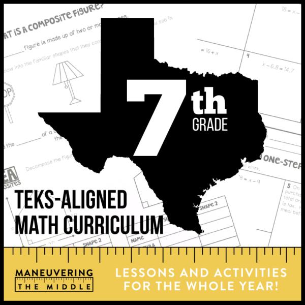7th Grade TEKS Math Curriculum