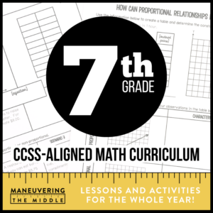 7th Grade CCSS Math Curriculum