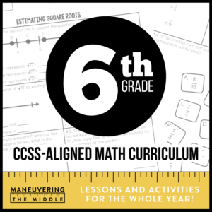 6th Grade CCSS Math Curriculum