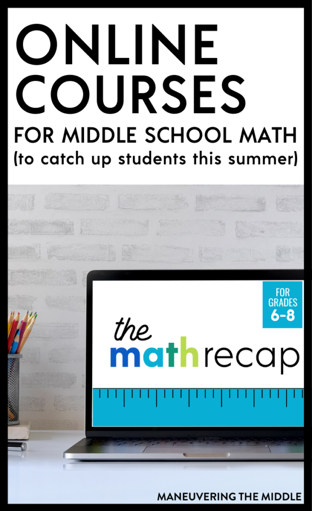 Parents, if you need something to help catch your students up for this fall, check out these online math programs! | maneuveringthemiddle.com