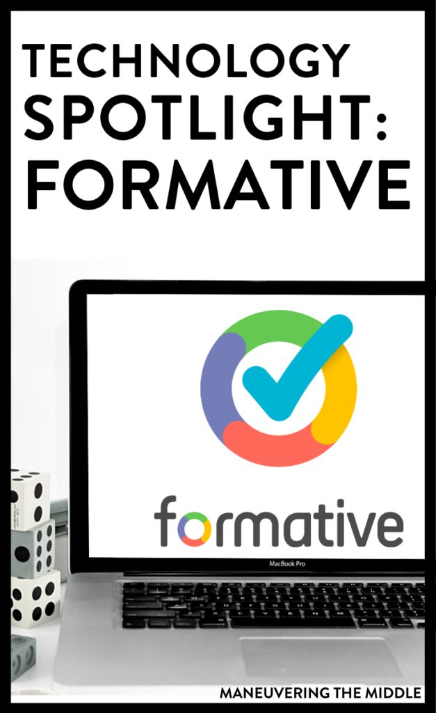 Go Formative is an amazing tech tool that allows you to make any paper lesson digital. Add questions, scaffold, insert videos, and watch students work in real-time. Check out why we love Go Formative here. | maneuveringthemiddle.com