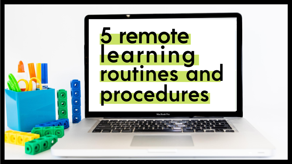 Distance learning has made the need for strong technology routines and procedures more important than ever. Start your year strong by implementing these 5! | maneuveringthemiddle.com
