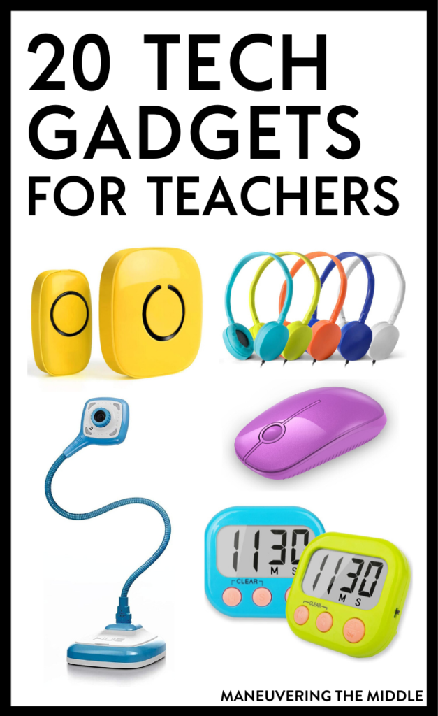 Technology gadgets and tech tools are necessary in today's classroom. We have rounded up 20 of our favorites on the blog. | maneuveringthemiddle.com