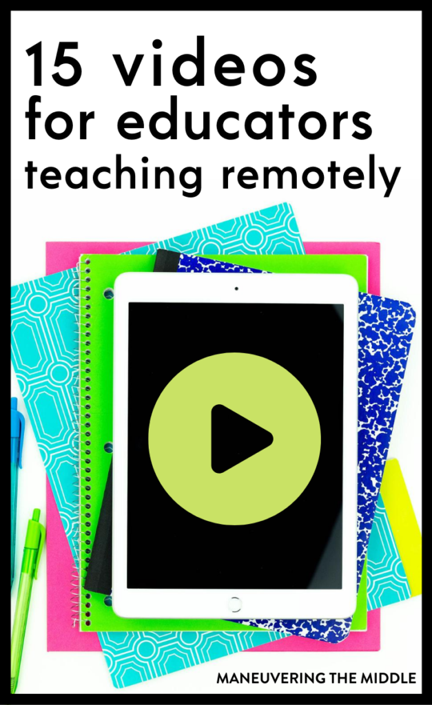 We compiled helpful videos for remote teaching! These 15 remote teaching videos will provide tips for various LMS & digital tricks to save time/energy. | maneuveringthemiddle.com