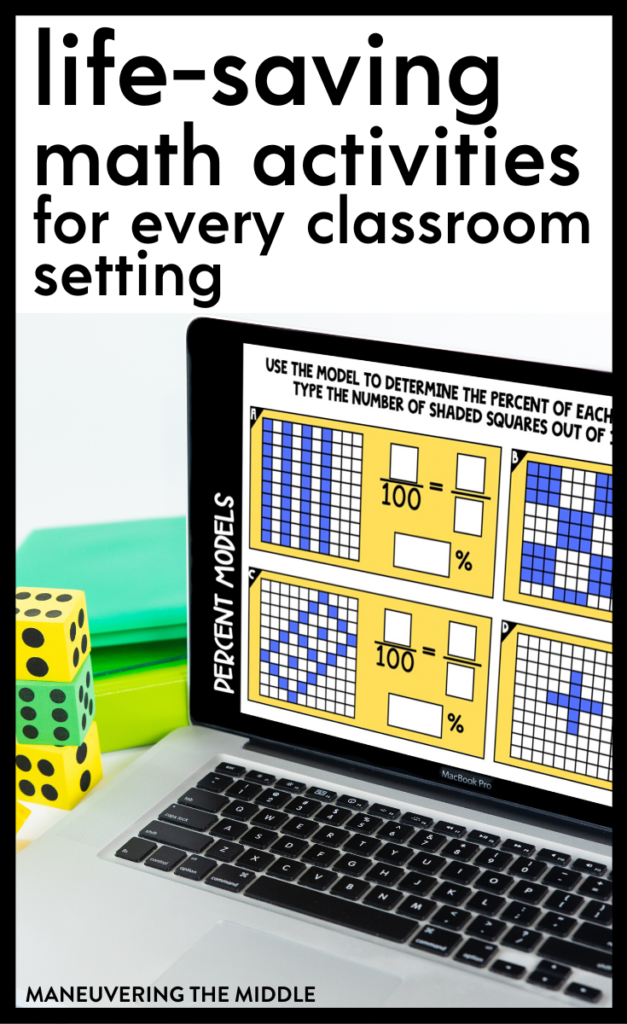 Get your students excited about math by using these free digital activities. Read how teachers are using them and download the freebie! | maneuveringthemiddle.com