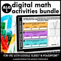 Algebra 1 Digital Activity Cover