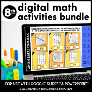 8th grade digital activities bundle