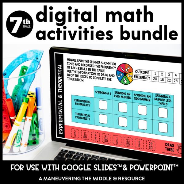 7th grade digital activities