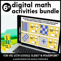 6th grade digital activity bundle