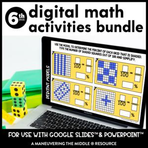 6th grade digital activity bundle