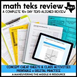 test prep and review cover