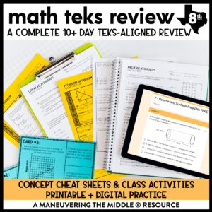 8th Grade TEKS Test Prep