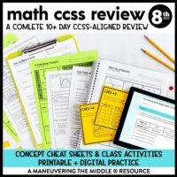 8th grade ccss test prep review