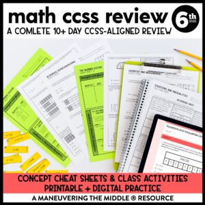 Test Prep CCSS 6th