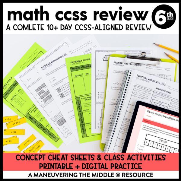 Test Prep CCSS 6th
