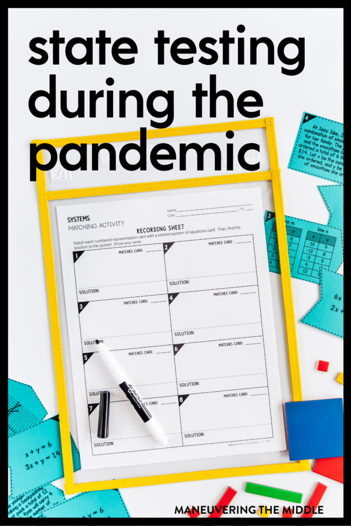 Reviewing and preparing for state testing is quite a challenge during a pandemic. Tips for how to facilitate a strong state test prep season. | maneuveringthemiddle.com