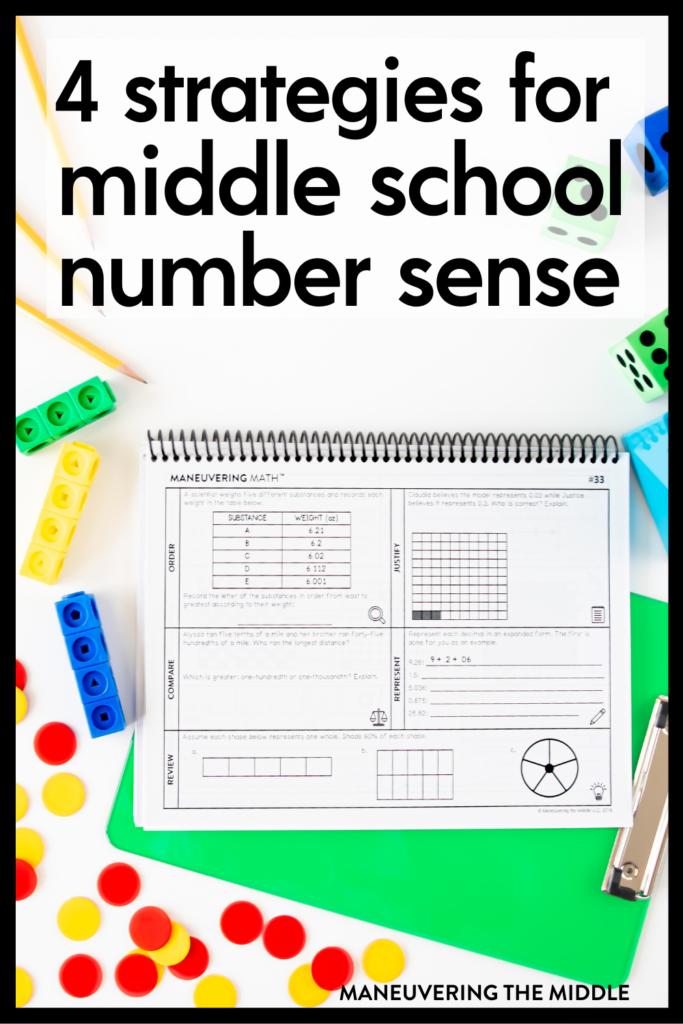 Number sense isn't just for elementary classes. Middle school number sense is crucial for students to develop into flexible problem solvers. | maneuveringthemiddle.com