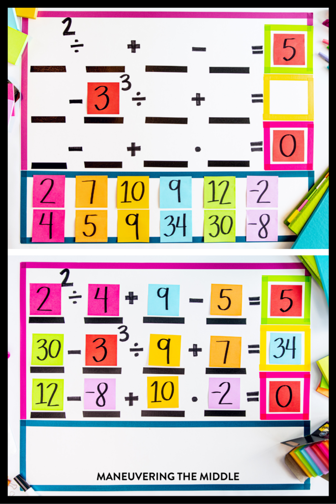 It is no secret that students and teachers love Post-it® Notes. Here are 12 ways to use them in your math or general classroom. | maneuveringthemiddle.com