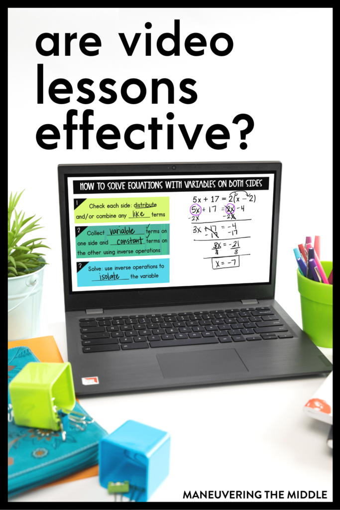 Are video lessons effective? Most teachers relied heavily on video lessons during the pandemic, but how can we use them effectively when we return face to face?| maneuveringthemiddle.com