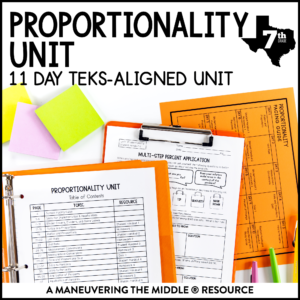 Proportionality Unit