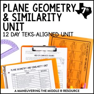 Plane Geometry & Similarity Unit