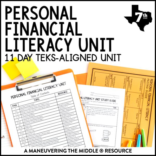 Personal Financial Literacy Unit