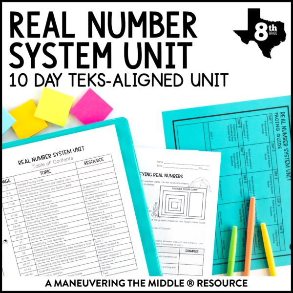 Real Number System Unit TEKS