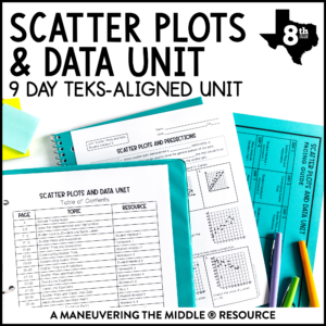 Data and Scatter Plots Unit