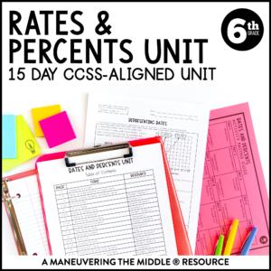 Rates and Percents Unit