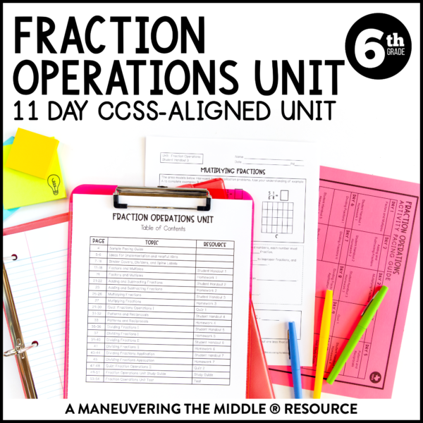fraction operations unit