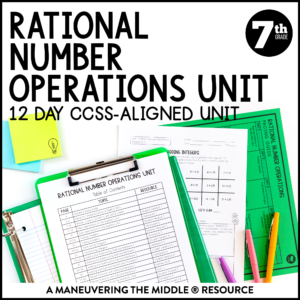 Rational number operations unit