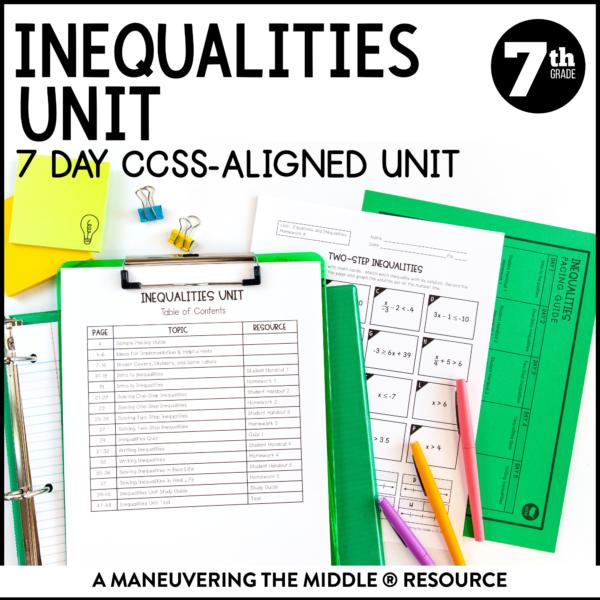 Inequalities Unit
