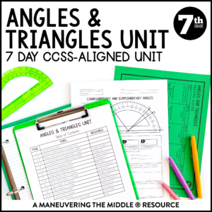 Angle Relationships Unit