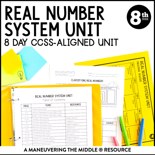 ccss 8th real number system unit