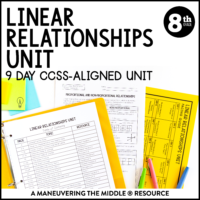 ccss 8th linear relationships unit