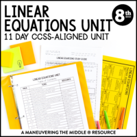 ccss 8th linear equations unit