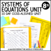 ccss 8th systems of equations unit