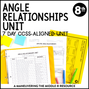 ccss 8th angle relationships unit