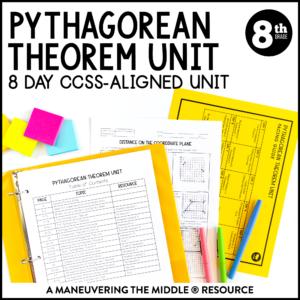 ccss 8th pythagorean theorem unit