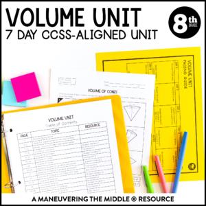 ccss 8th volume unit