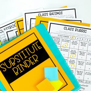 Organizing a Substitute Binder
